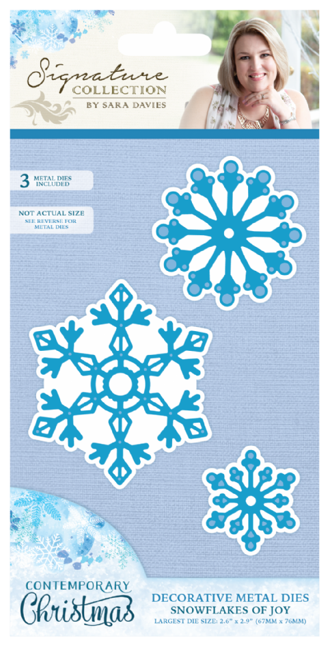 Sara Signature Contemporary Christmas Collection - Snowflakes of Joy Die